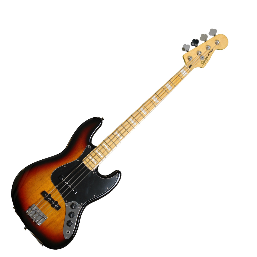 squier 39 77 vintage modified jazz bass 3 tone sunburst. Black Bedroom Furniture Sets. Home Design Ideas