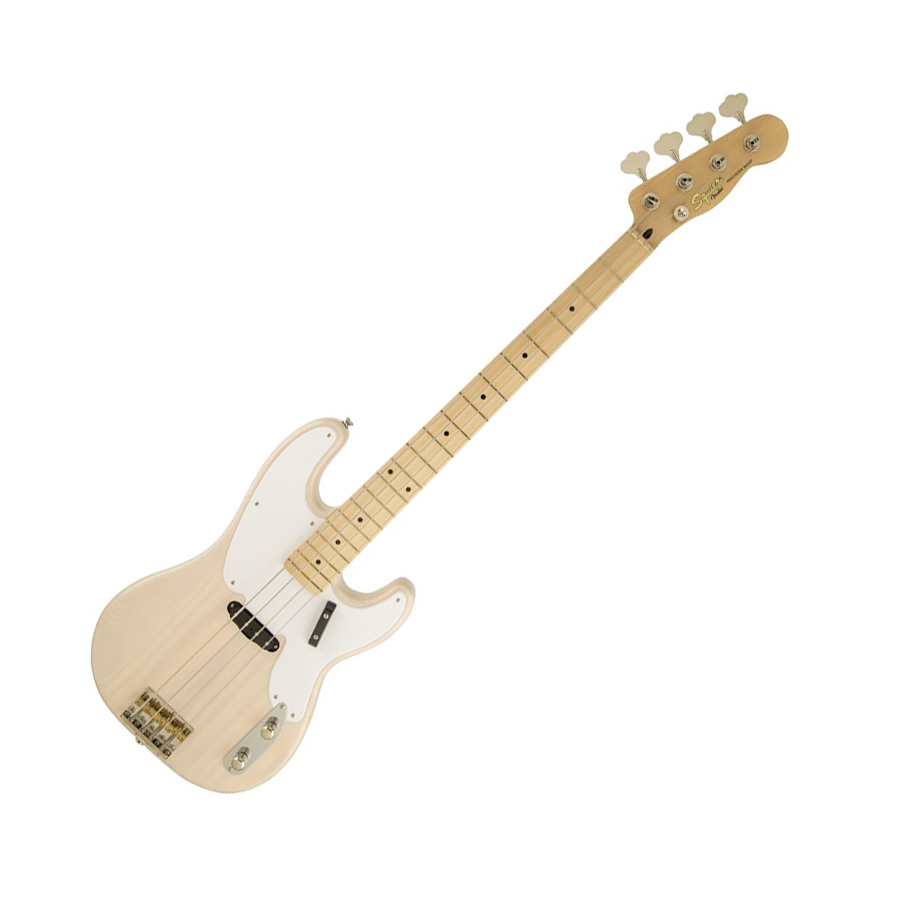 Squier classic vibe precision 39 50s bass guitar white for Classic house bass