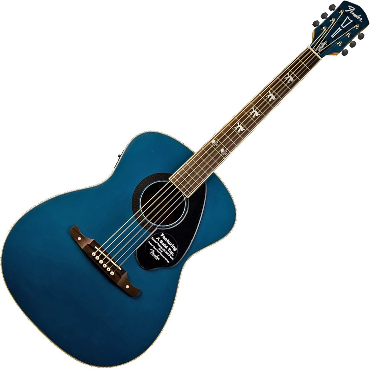 fender fsr tim armstrong hellcat acoustic electric guitar sapphire blue music machine. Black Bedroom Furniture Sets. Home Design Ideas